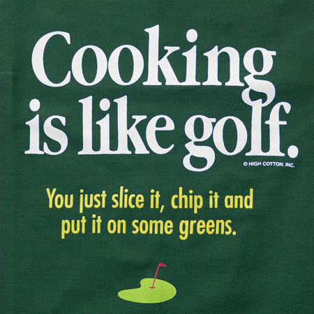 Cooking Is Like Golf Apron