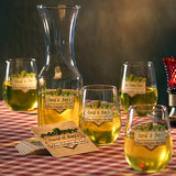 Personalized Wine Delights Goblets/Carafe