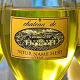 Personalized Wine Glasses/Carafe - Gold Chateau