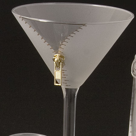 Zipper Martini Glasses - Set of 4