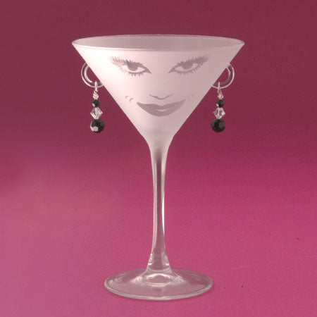 Lola Martini Glasses - Set of two - Black