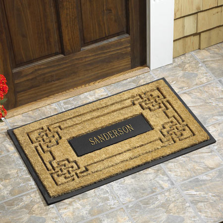 Personalized Knot Coir Doormat