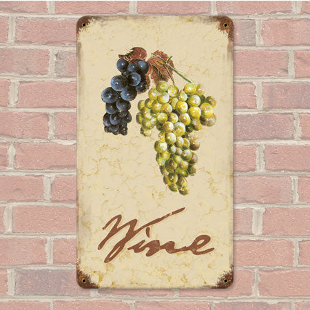 Wine Grapes Metal Sign