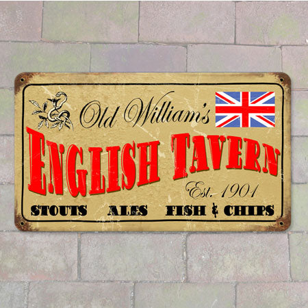 Old William's Tavern Metal Sign
