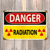 Danger Radiation Metal Sign