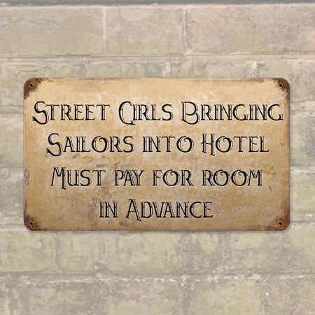 Street Girls Metal Sign