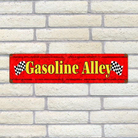 Gasoline Alley Metal Sign