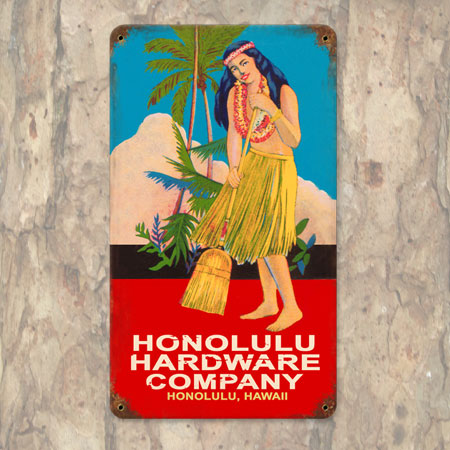 Honolulu Hardware Metal Sign