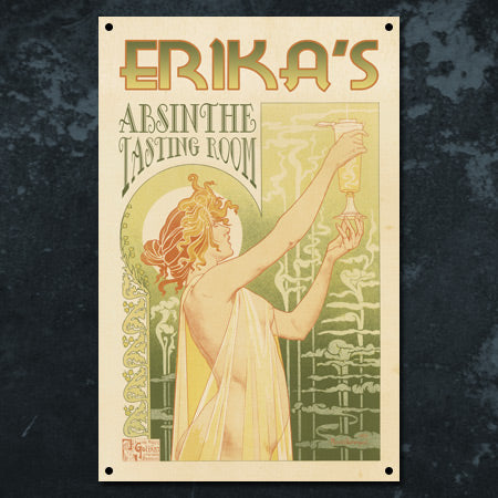 Personalized Absinthe Metal Sign