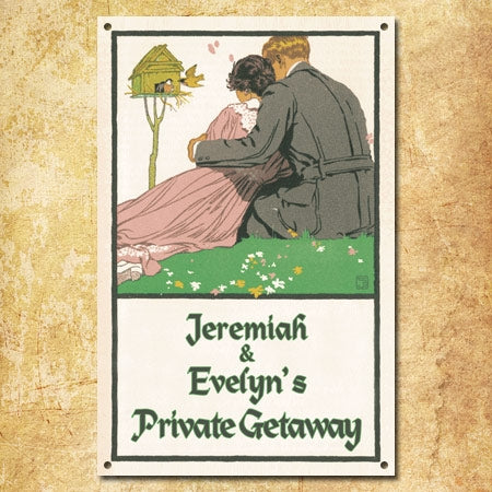 Personalized Private Getaway Sign