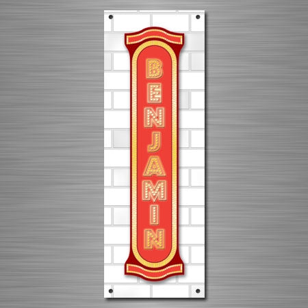 Personalized Vertical Marquee Sign