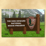 Personalized National Park Metal Sign