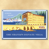 Personalized Vintage Private Villa Sign