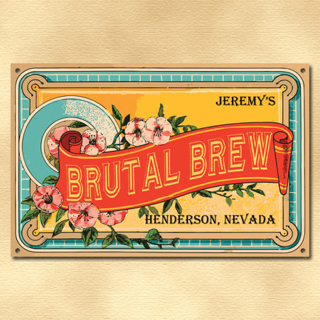 Personalized Vintage Beer Label Sign