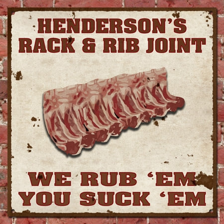 Personalized Vintage Rib Joint Sign