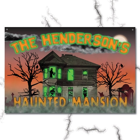 Personalized Haunted Mansion Metal Sign