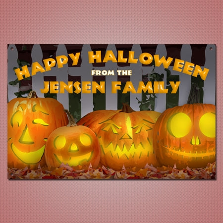 Personalized Jack O Lanterns Metal Sign
