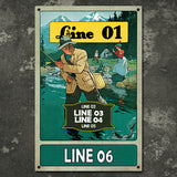 Personalized Vintage Fishing Hole Sign