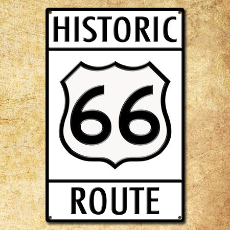 Authentic Metal Route 66 Historic Route Sign