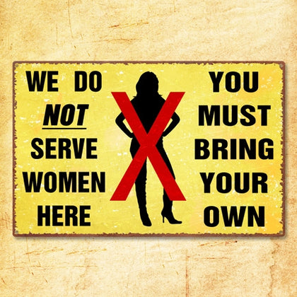 Serve Women Metal Sign