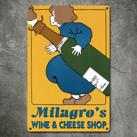 Vintage Metal Personalized Wine Shop Sign