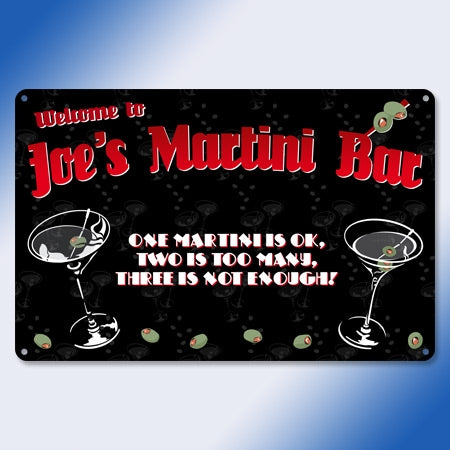 Personalized Metal Martini Bar Sign