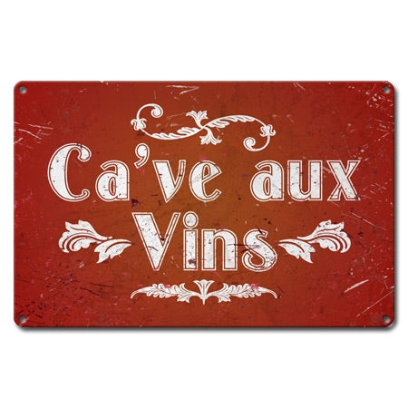 French Wine Cellar Metal Sign