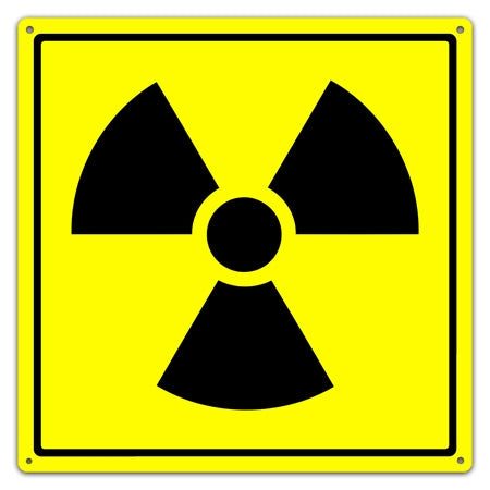 Metal Radioactive Symbol Utility Sign