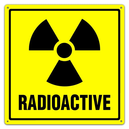 Radioactive Symbol Sign With Text Radioactive Utility Sign
