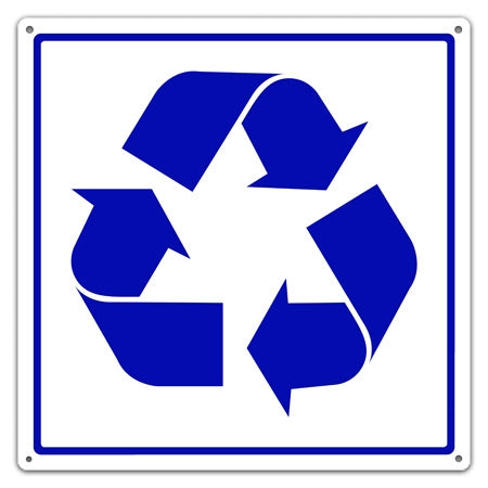 Metal Recycling Symbol Utility Sign