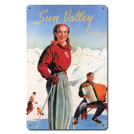 Sun Valley Idaho Metal Ski Sign