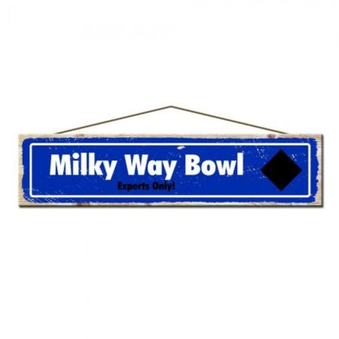 Rustic Pine Milky Way Bowl Ski Sign