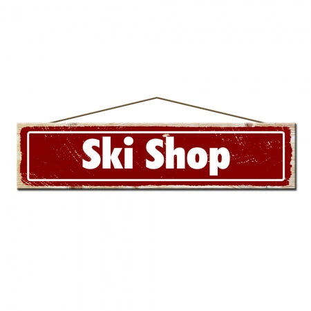 Rustic Pine Ski Shop Ski Sign