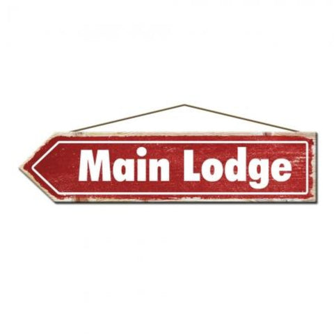 Rustic Pine Main Lodge Ski Sign