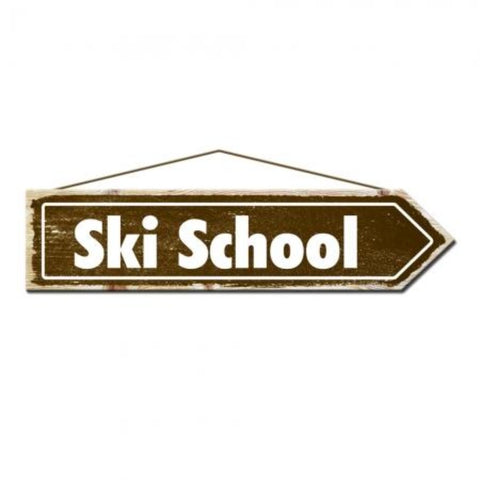 Rustic Pine Ski School Sign