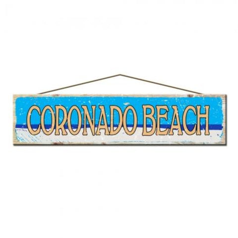 Rustic Pine Coronado Beach Sign