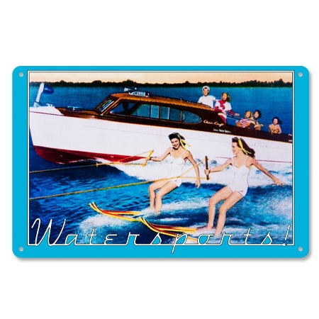 Vintage Metal Watersports Sign