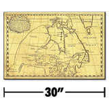 Jumbo Historic North America Map Plaque