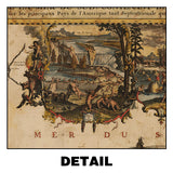 Jumbo Illustrated Americas Map Plaque