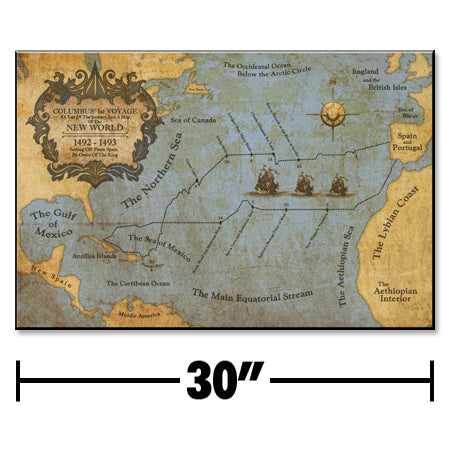 Jumbo First Voyage Of Columbus Map Plaque