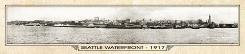 Vintage Panorama Metal Print - Seattle 1917