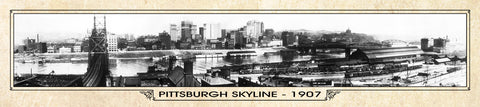 Vintage Panorama Metal Print - Pittsburgh 1907