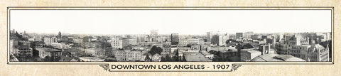 Vintage Panorama Metal Print - Los Angeles 1907