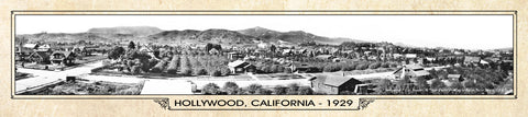 Vintage Panorama Metal Print - Hollywood 1929
