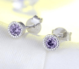925 Sterling Silver Cubic Zircon Stud Earrings - Earrings - LoxLux Jewelry