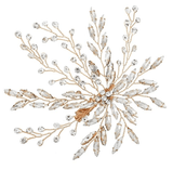 Marquise Crystal Flower Leaf Hair Clip Pin Headpiece Barrette - Accessories - LoxLux Jewelry