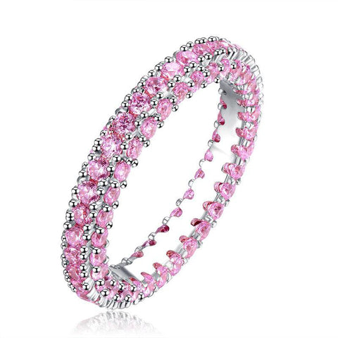 AAA Cubic Zircon Eternity Style Full Pave Setting Ring - Ring - LoxLux Jewelry