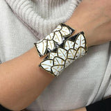 Big Cuff Statement Leaves Bracelet - BRACELET - LoxLux Jewelry