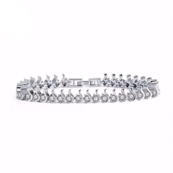 Cubic Zirconia with 35 Pieces AAA Austrian CZ Tennis Bracelet - BRACELET - LoxLux Jewelry