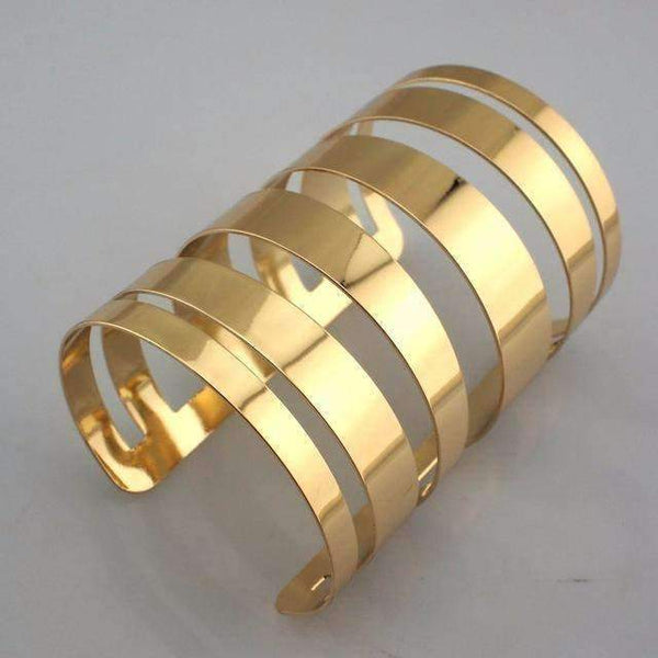 Hollow Design Open Cuff Gold / Silver Bangle Bracelet - BRACELET - LoxLux Jewelry